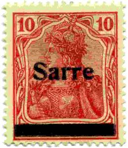 Duitsland Sarre 10 pf